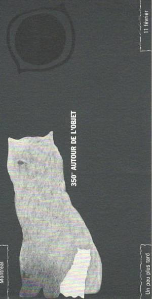 Gilbert Boyer, Louise Viger, 350° autour de l'objet, 1985