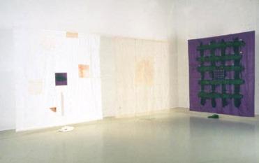 © Claire Beaulieu / SODRAC (2018), Voiles, installation galerie Verticale (Laval), 1993