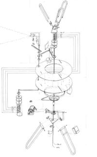Pascal Dufaux, Sculpture vidéo-cinétique 2, esquisse (mine de plomb sur géofilm, 2009