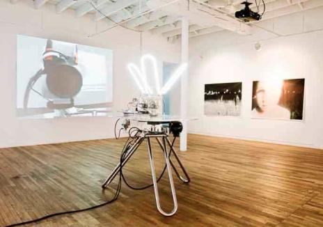 Pascal Dufaux, Le cosmos dans lequel nous sommes (Sculpture vidéo-cinétique 2), 2009-2011