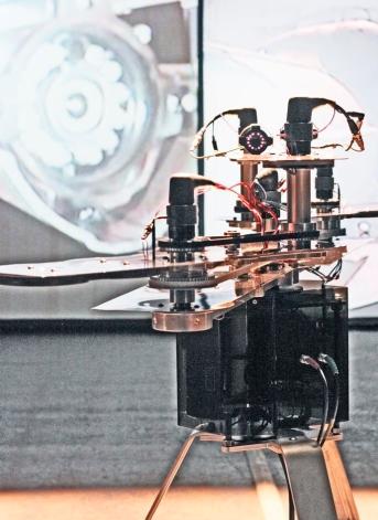 Pascal Dufaux, Fontaine, Sculpture vidéo-cinétique #3, 2011 (détail)