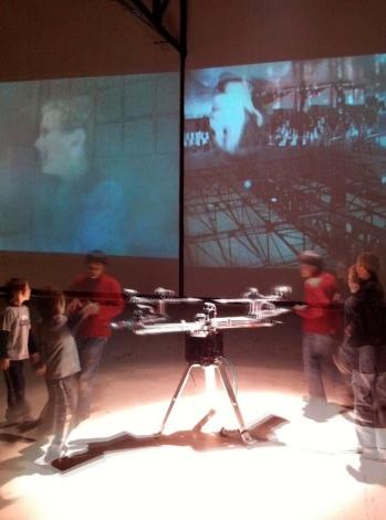 Pascal Dufaux, Fontaine, Sculpture vidéo-cinétique #3, 2011