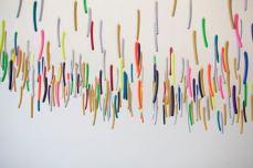 Ludovic Boney, Sous les chatons, 2017, Installation, Galerie Michel Guimont, Québec (détail)