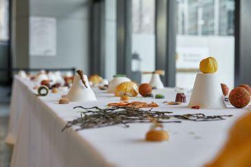 Cabinet de Fumisterie Appliquée, Horizon 2050 : Le banquet, 2016. (détail). Photo Thierry du Boistheme Reset. Photo Thierry du Bois