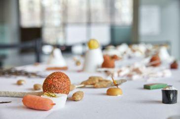 Cabinet de Fumisterie Appliquée, Horizon 2050 : Le banquet, 2016 (détail). Photo Thierry du Bois